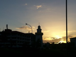 Apia Townclock Sunset
