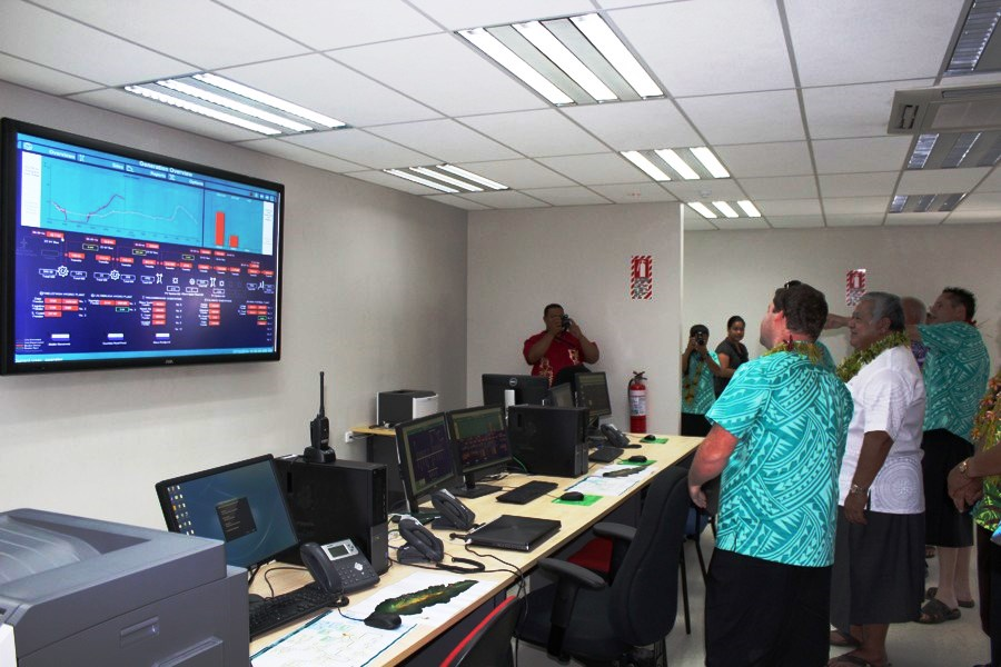 Inside the National Control Centre at Fuluasou Substation