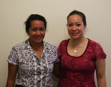 Maeva Ah Yen (L) and Tupou Chan Tung (R) will be studying with PPTC.