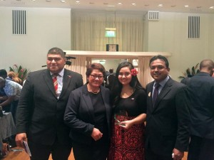 Brianna and the Pacific Representatives at the Awards Ceremony