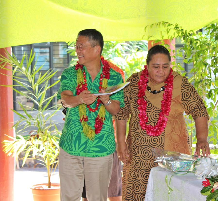 Japanese Ambassador to Samoa, Tuimaugaoalii Kazumasa Shibuta
