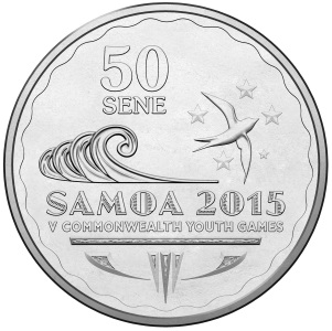 50 Sene Collectible Samoa Commonwealth Youth Games coin