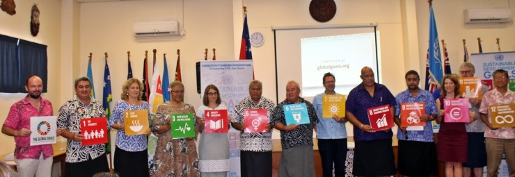 Participants displaying the SDGs