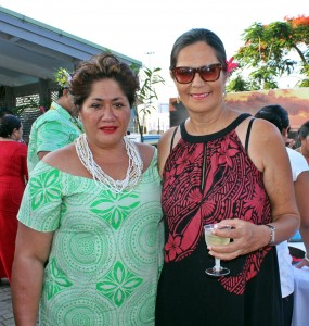 Samoa Tourism CEO Papalii Sonja Hunter and guest at the Visit Samoa 2016 function