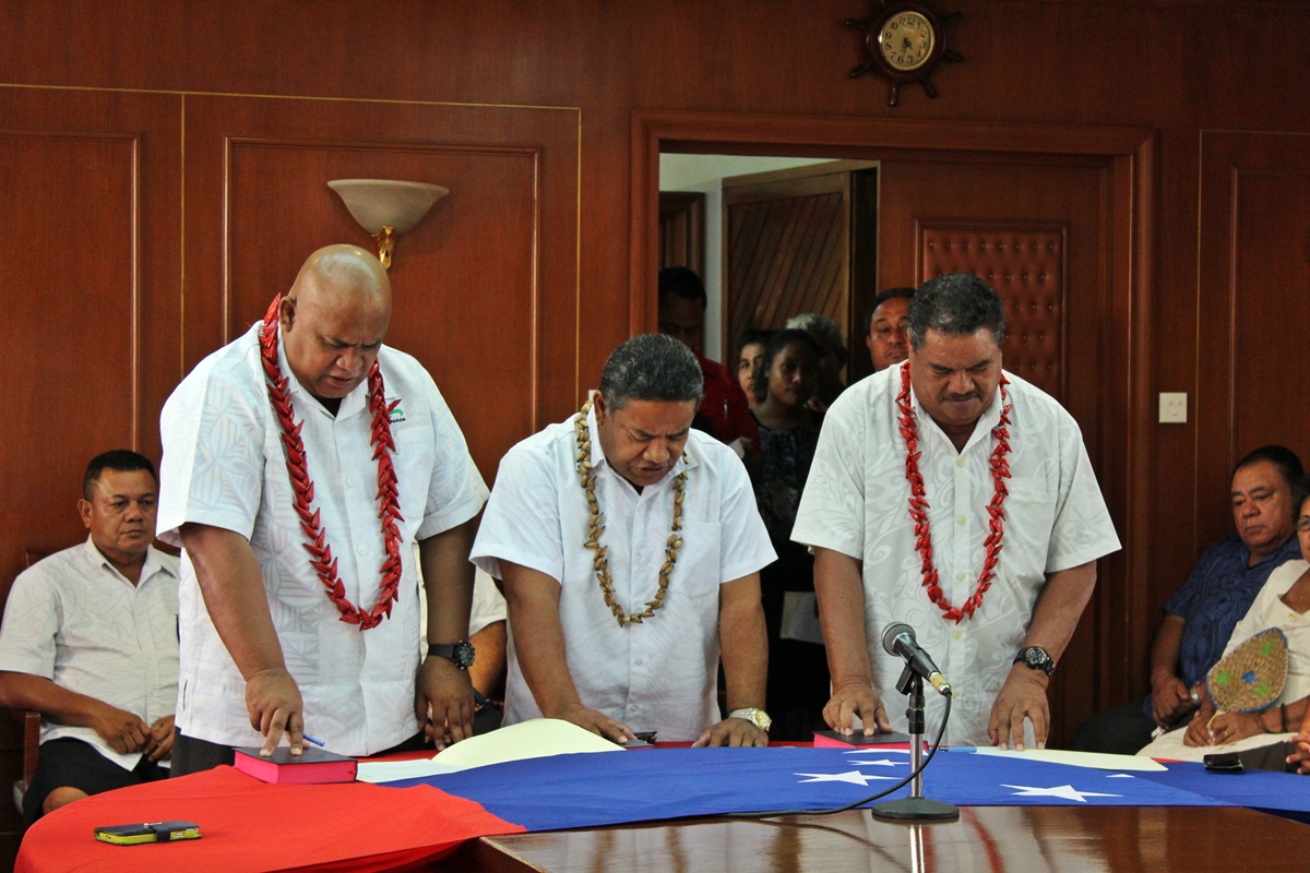 Associate Ministers sworn-in: Amituanai, Taefu, Peseta
