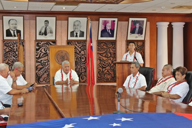 Prime Minister Tuilaepa and Cabinet