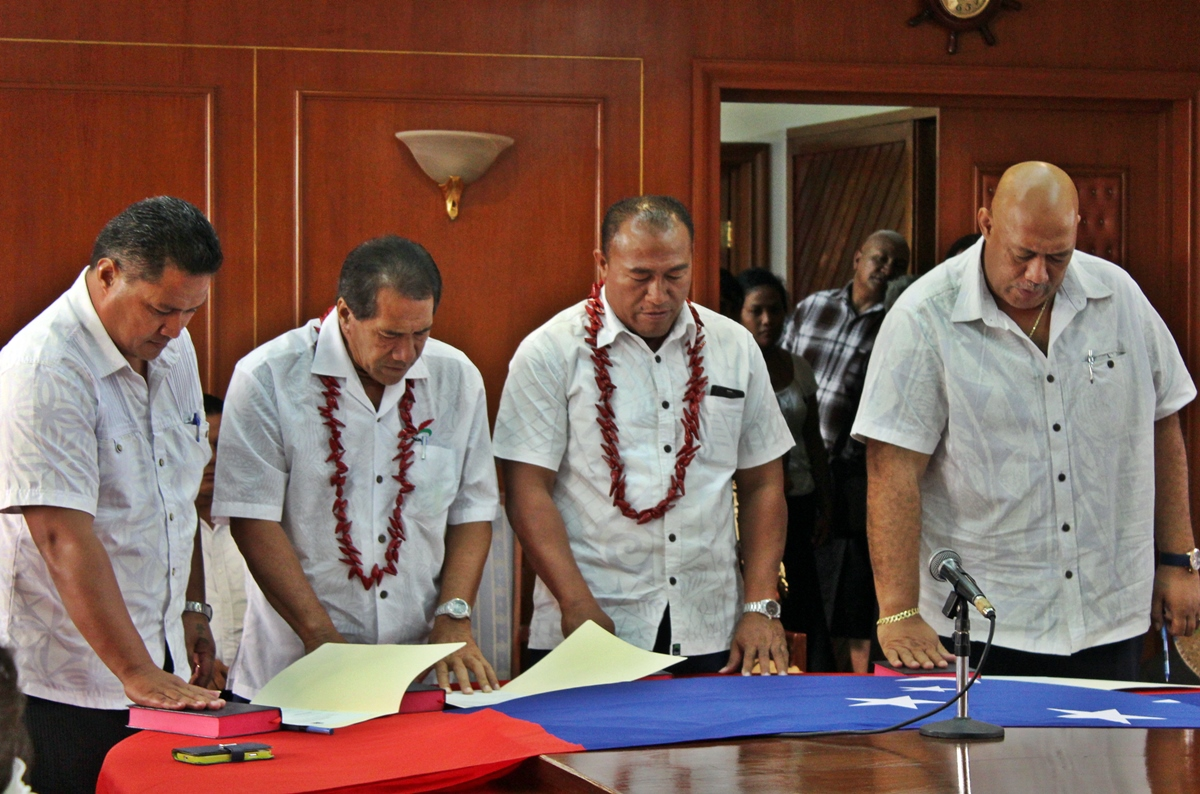 Associate Ministers sworn-in: Lenatai, Tofa Lio, Mulipola