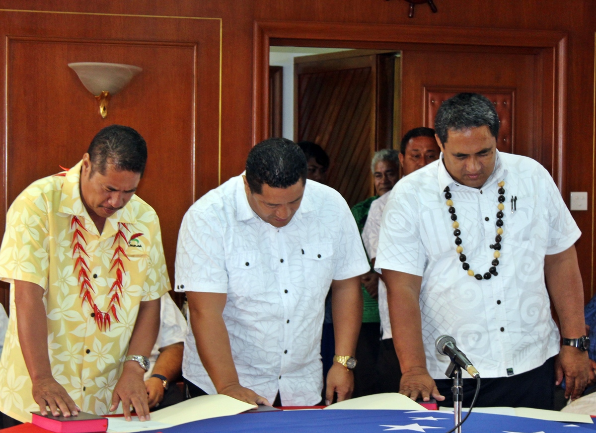 Associate Ministers sworn-in: Seiuli, Sooalo, Alaiasa
