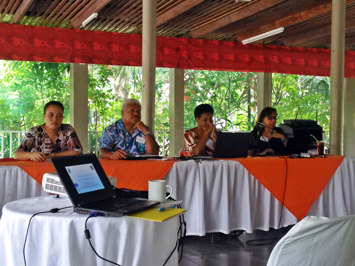 Indigenous Workshop - panel with Samoa, Cook Islands and Fiji representatives