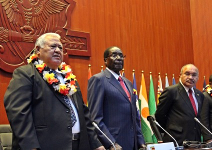 PM Tuilaepa, President of Zimbabwe Robert Mugabe and PNG Prime Minister Peter O'Neill