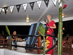 Minister Nikki Kaye speaks at New Zealand High Commission Residence at Vailima