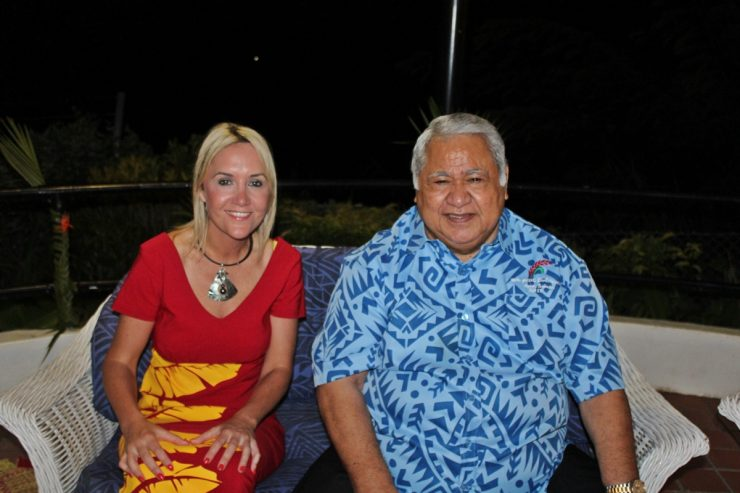Prime Minister Tuilaepa and Minister Nikki Kaye