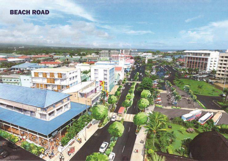 Apia Waterfront Plan Beach Road
