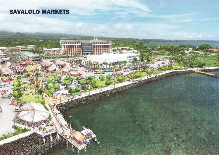 Apia Waterfront Plan Savalalo Markets