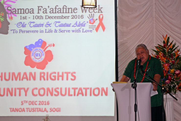 Samoa Faafafine Week Community Consultations